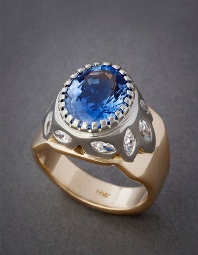 custom ring crafted by experienced jeweler