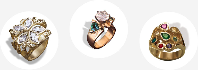 beautiful range of options for custom rings hand crafted custom jewelry near Portland